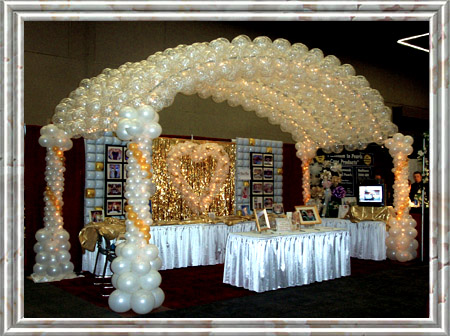 Decorations wedding bridal canopy for Balloon decoration ideas for quinceaneras